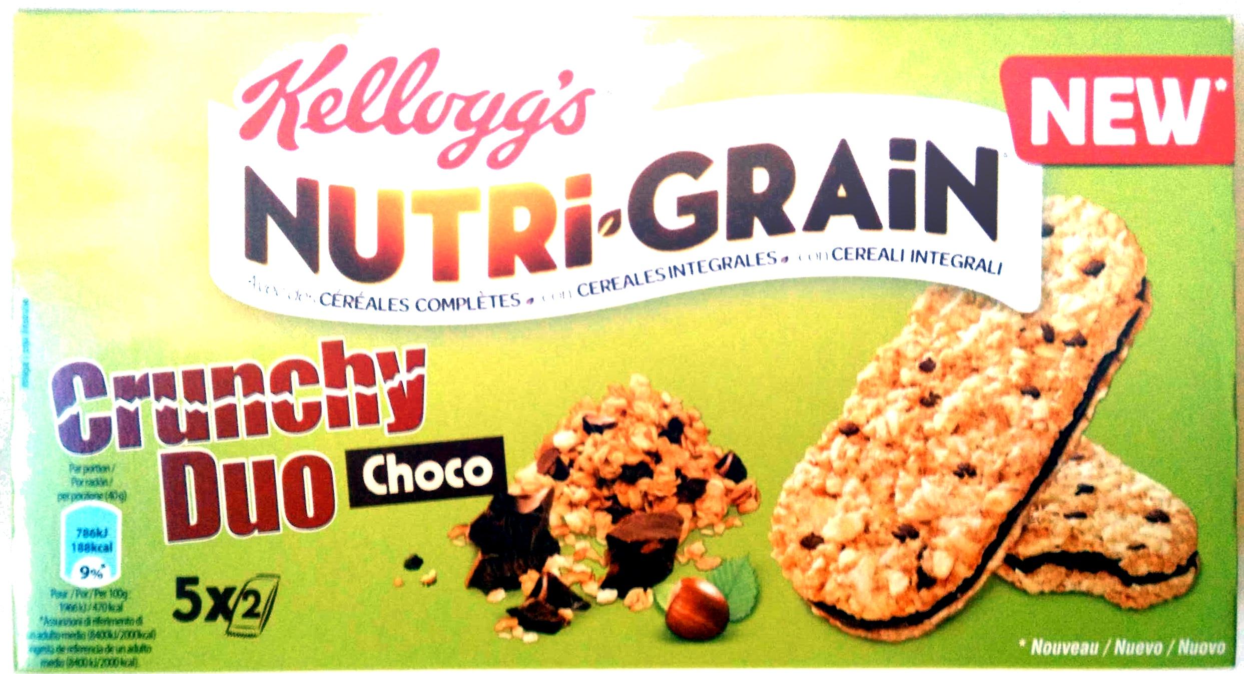 Nutri-Grain crunchy duo choco - Prodotto