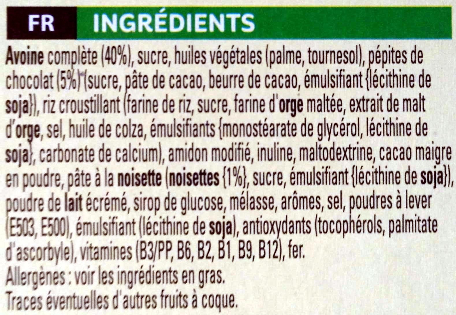 Nutri Grain Bars Ingredients Ingredients Nutri-grain