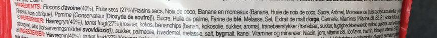 Crunchy Müsli : Fruit - Ingredienti - fr