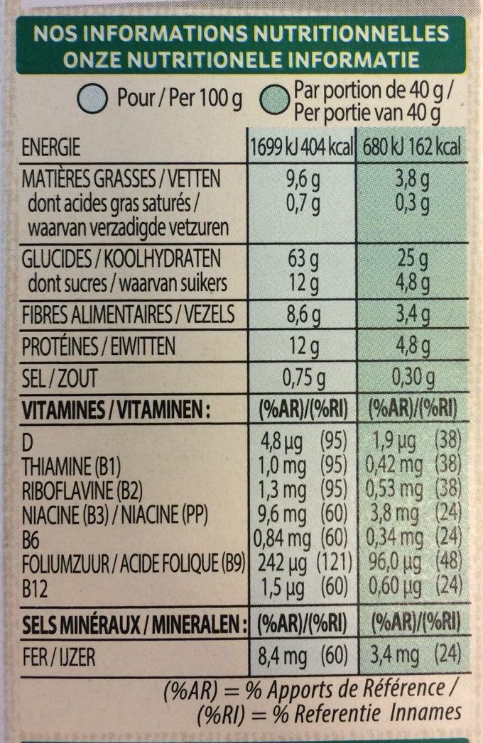 Spécial K Nourish Noisettes, Amandes & Graines de Courge - Voedingswaarden - fr