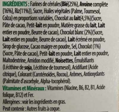 Tresor - Ingredients