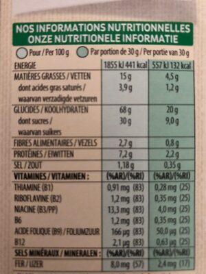 Tresor - Valori nutrizionali - fr