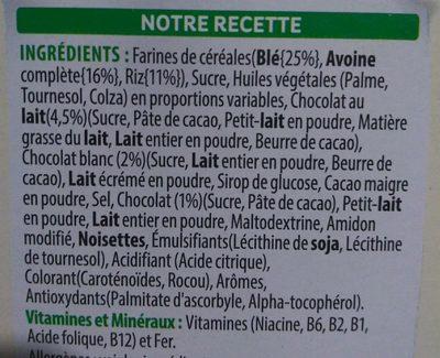 Trésor Choco Roulette - Ingrédients - fr