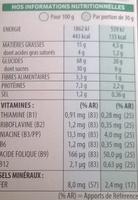Trésor Choco Roulette - Informations nutritionnelles - fr