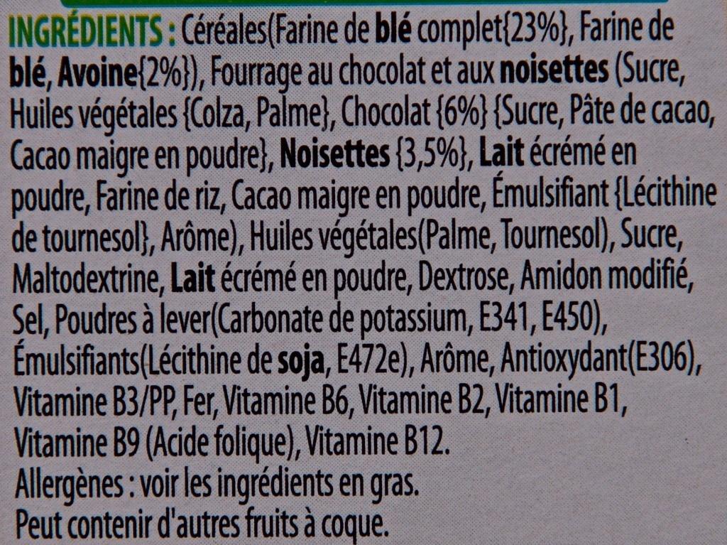 Nutri-grain à toaster Chocolat-Noisette - Ingredients - fr