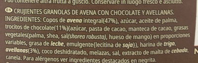 Kelloggs Extra chocolate y avellanas - Ingredienti - es