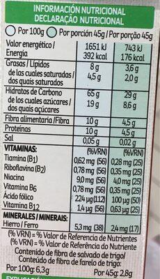 All-bran Choco - Información nutricional