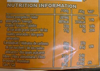 Extra Original - Informação nutricional - es