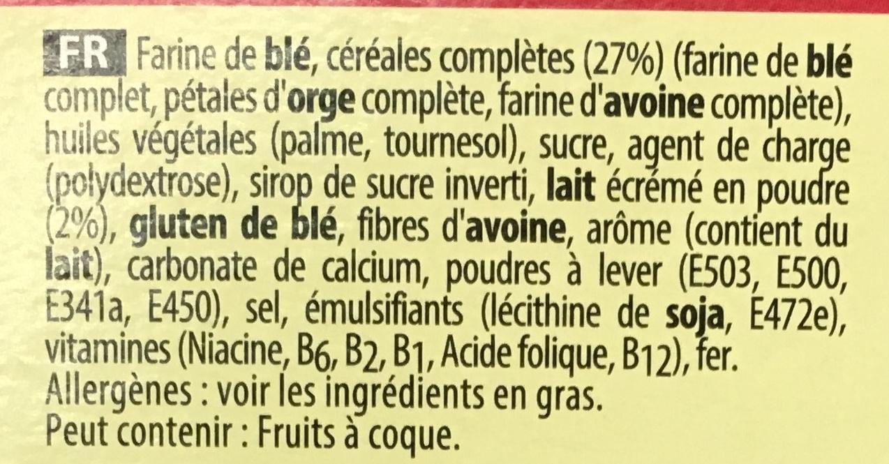 Disney Frozen - Biscuits multi-céréales - Ingredients - fr