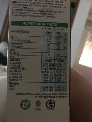 Special K chocolate negro - Información nutricional