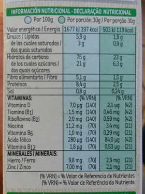Special K chocolate negro - Informations nutritionnelles