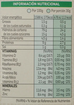 Special K classic - Nutrition facts
