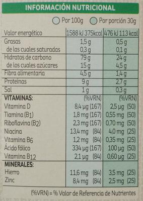 special K classic - Informació nutricional