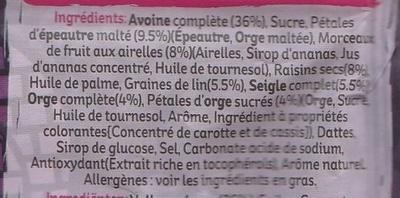 Muesli Croustillant (Epeautre, airelles, raisins secs et graines de lin) - Ingredients - fr