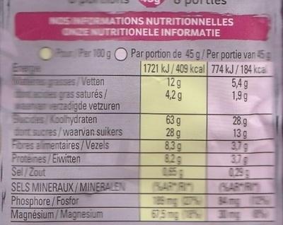 Muesli Croustillant (Epeautre, airelles, raisins secs et graines de lin) - Nutrition facts - fr