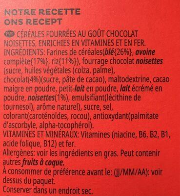 Trésor, gout chocolat noisette - Ingredienti - fr