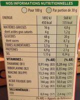 Trésor, gout chocolat noisette - Valori nutrizionali - fr