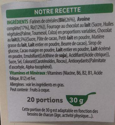 Trésor - Ingredients - fr