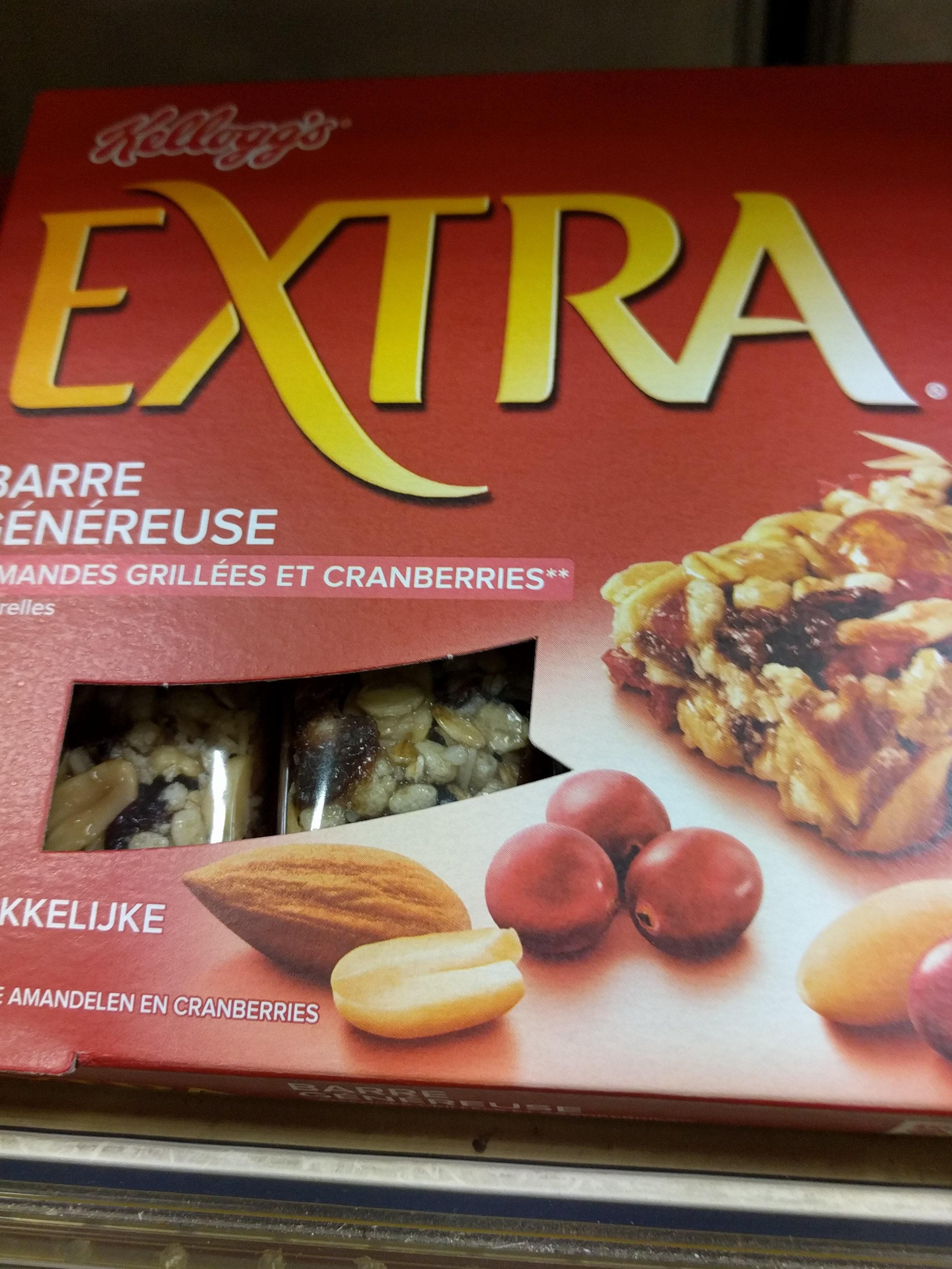 Extra Barre généreuse Amandes grillées et Cranberries - Product