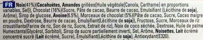 Barres chocolatées aux amandes - Ingredients