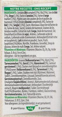 Special K nourish - myrtilles, mûres, framboises & groseilles - Ingredients