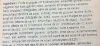 Barrette Mandorle Ciocc. gr. 128 - Ingredientes - fr