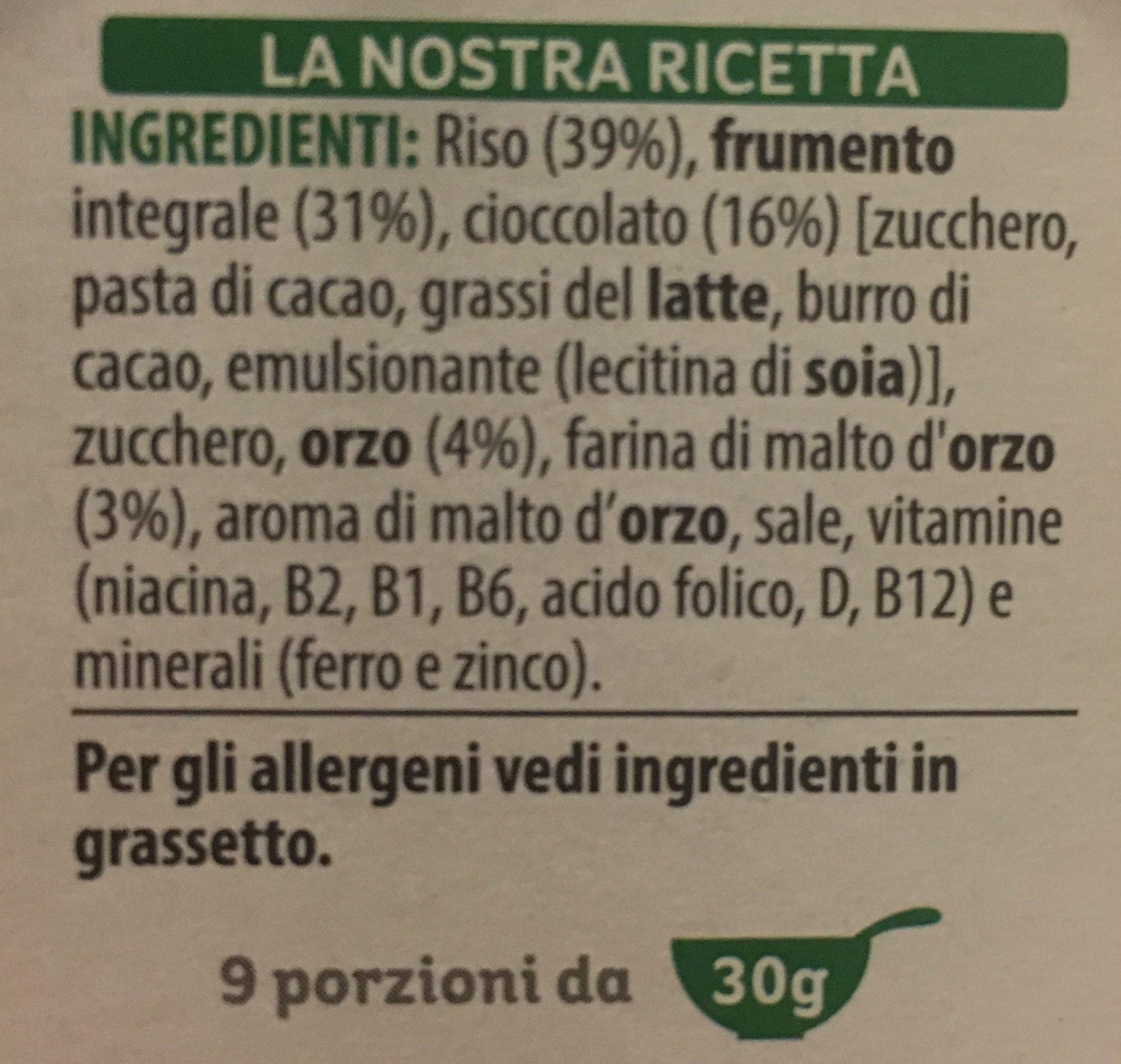 Cereali Spec. k. cio / Fon. gr290 - Ingrediënten