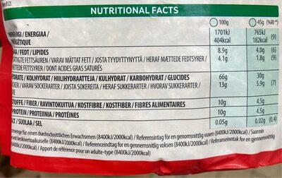 5 Korn Müsli Choco - Informations nutritionnelles - fr