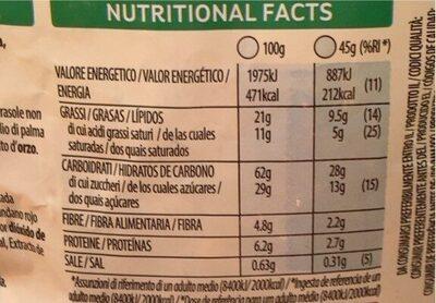 Crujientes cereales de desayuno con fruta - Informació nutricional