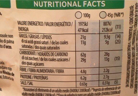 Crujientes cereales de desayuno con fruta - Informació nutricional - it