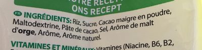 Coco pops - Ingrediënten