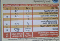 Extra - Barre généreuse - Informations nutritionnelles
