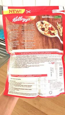 Baked Müsli, Fruit - Nutrition facts