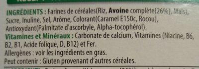 Disney Princess multi-grain cereal - Ingrédients - fr