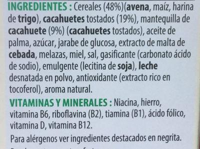 Extra peanut butter - Ingredientes