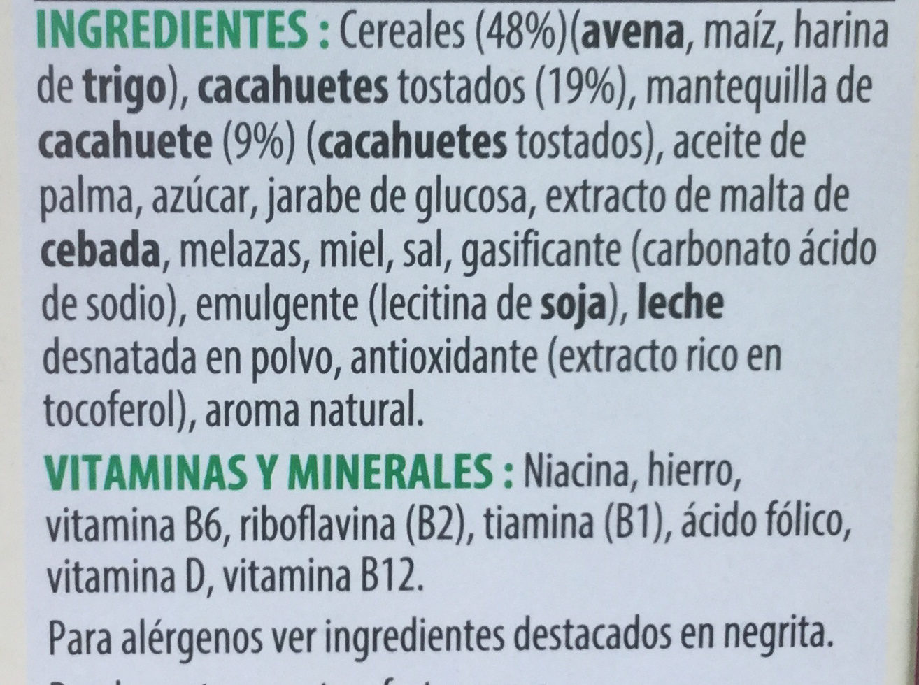 Extra peanut butter - Ingredientes - es