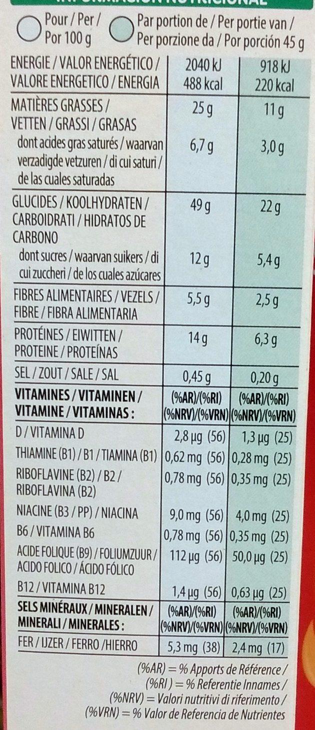 Extra peanut butter - Información nutricional - fr
