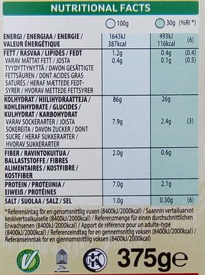 Kellogg's Rice Krispies - Informations nutritionnelles - sv