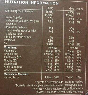 Choco Krispies - Informations nutritionnelles - fr