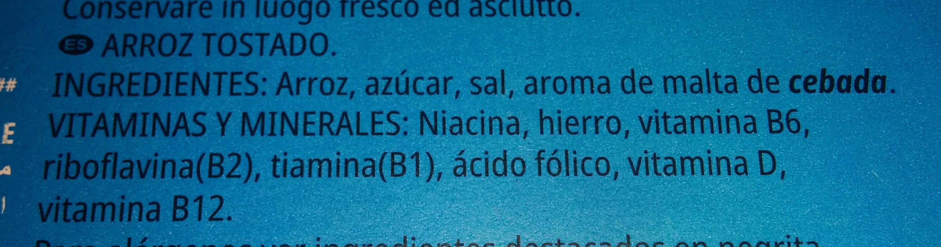 Rice krispies - Ingredientes - es