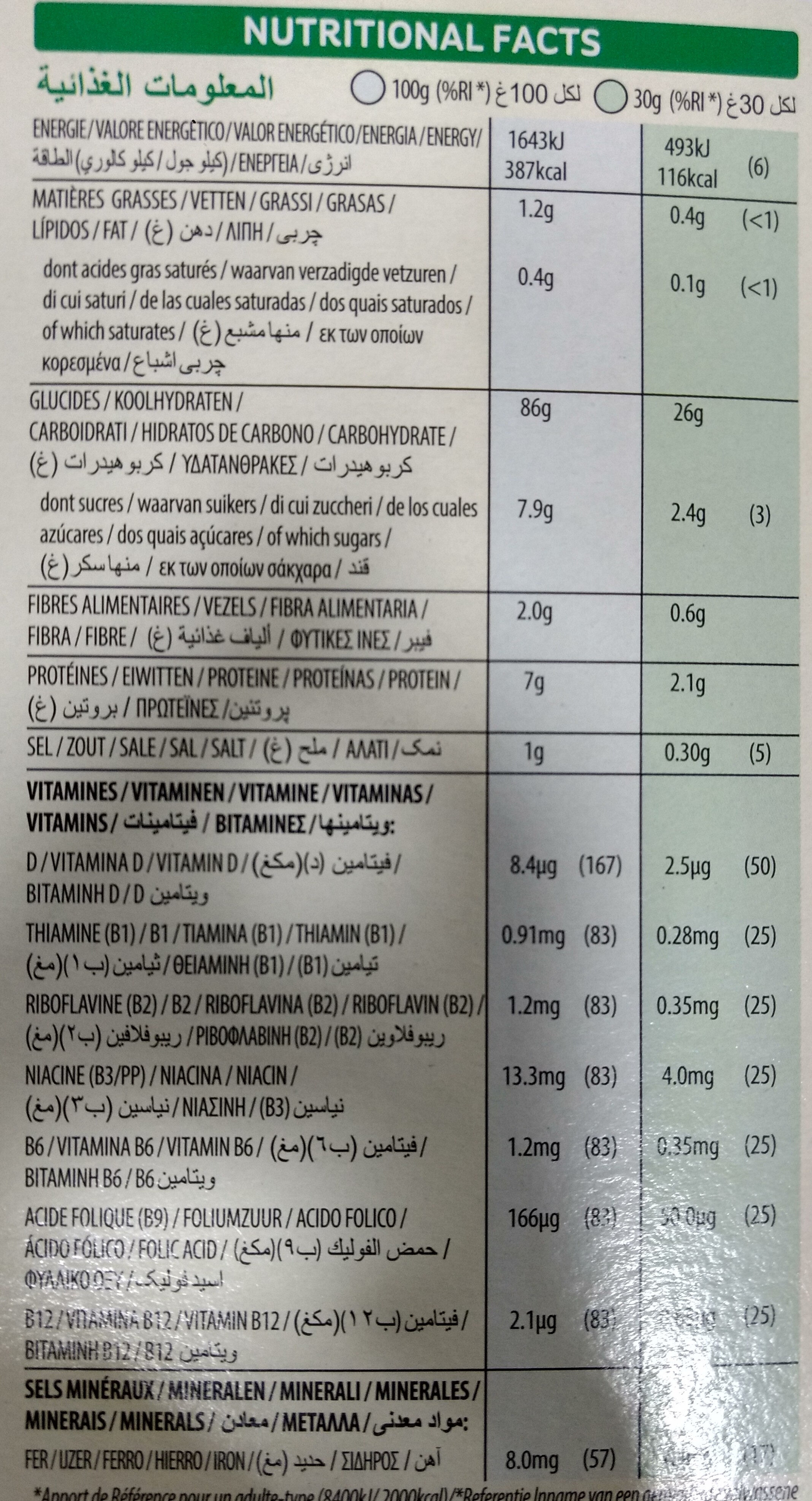 Rice Krispies - Nutrition facts