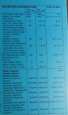 Rice krispies - Informação nutricional - es