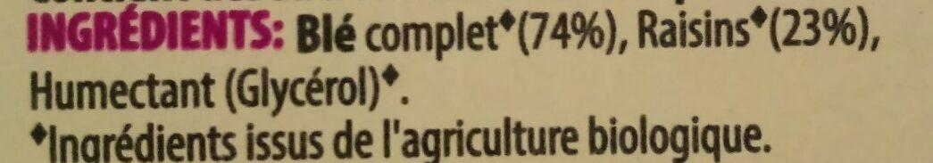 Wholegrain wheats raisin - Ingrédients - fr