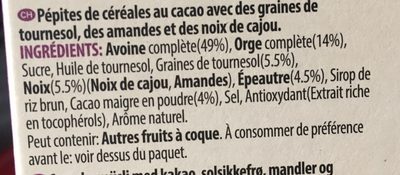 W.k Kellogg muesli croustillant abricot et graines de courge - Ingrediënten