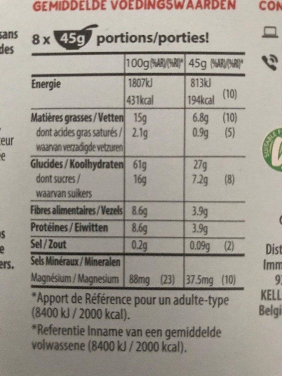 W.k Kellogg muesli croustillant abricot et graines de courge - Voedigswaarden