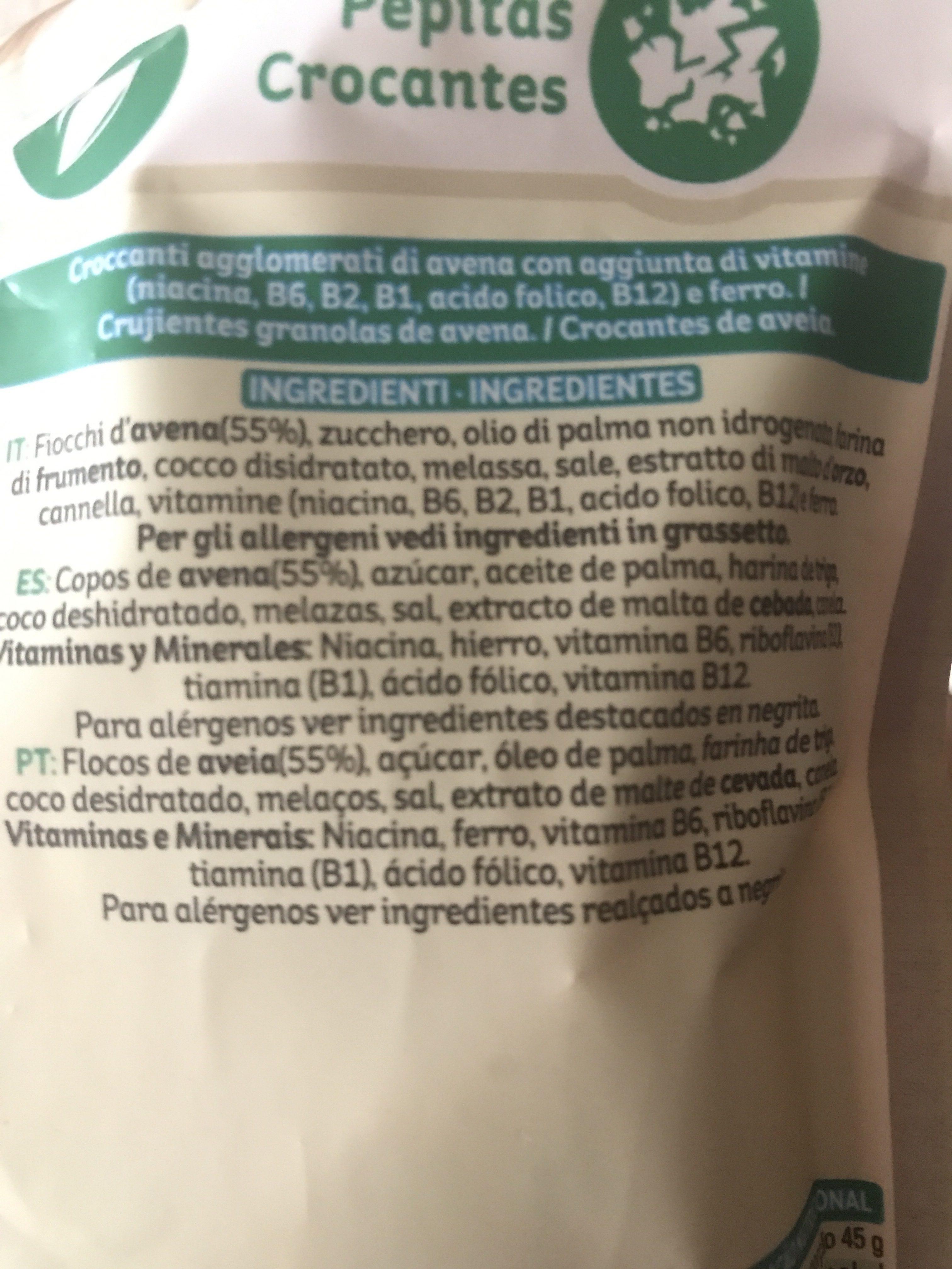 Extra original - Ingredientes