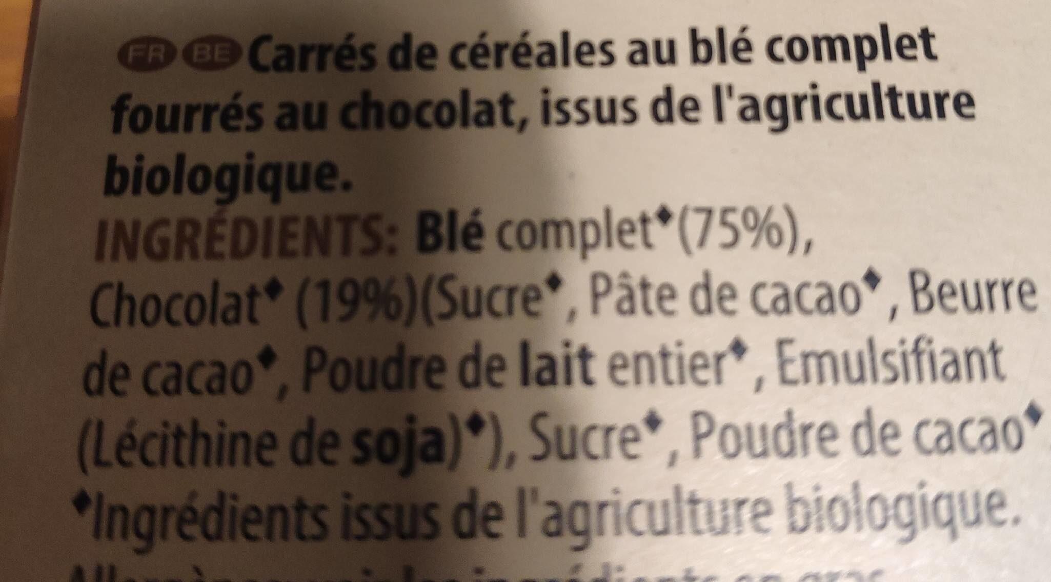 W.K Kellogs bio petits coussins au chocolat - Ingrediënten
