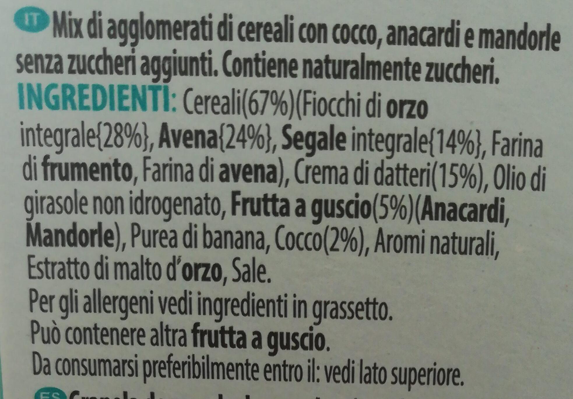 Sugar-free nutty granola - Ingredients - it