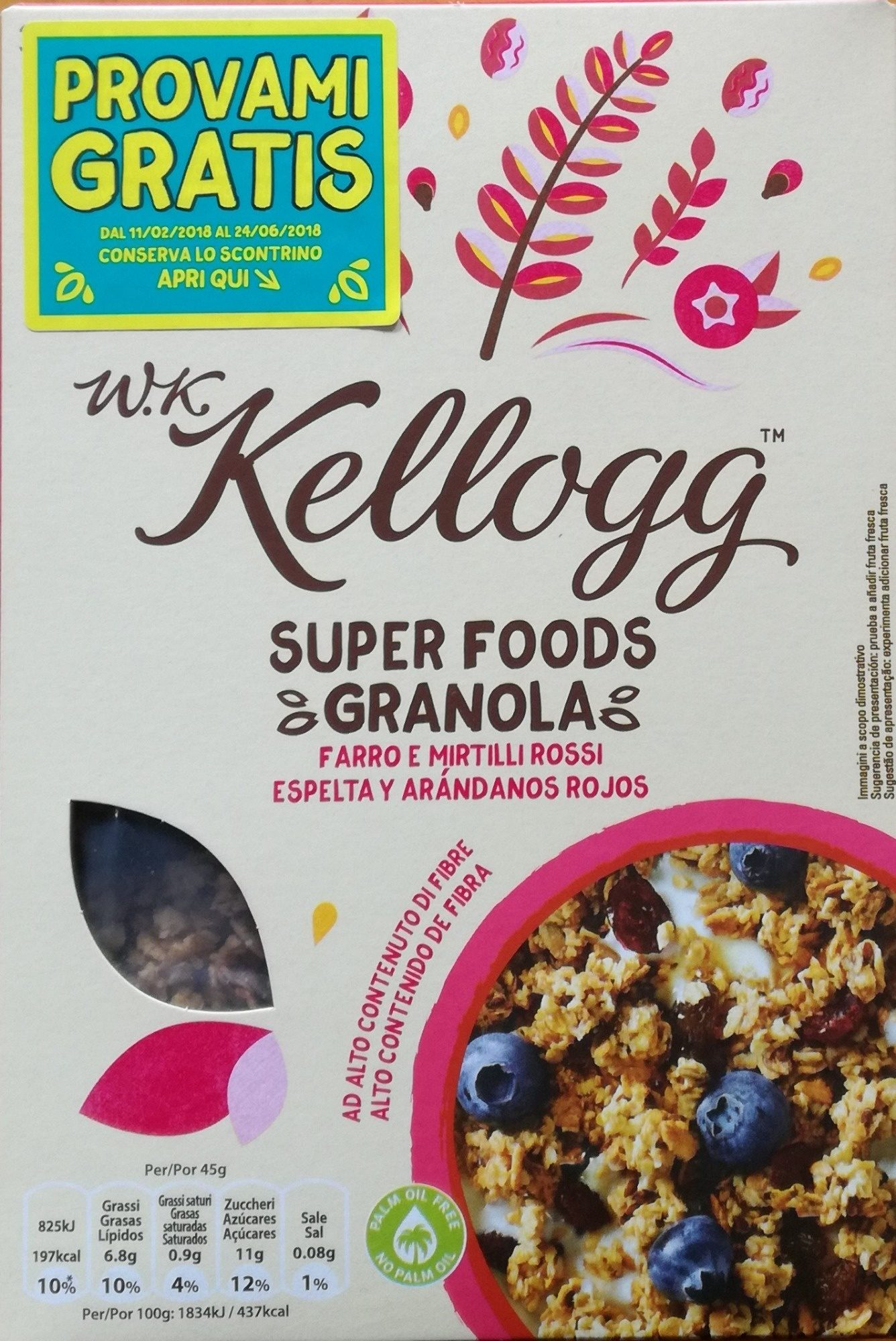 Super foods granola - Producte - it