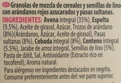 Super foods granola - Ingredientes